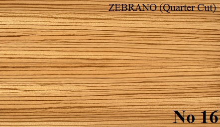 ZEBRANO Quartered