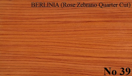 BERLINIA  Rose Zebrano Qtrd