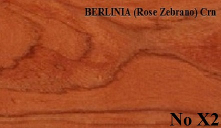 BERLINIA  Rose Zebrano Crn